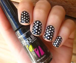 bolinhas, nails, and nail art image