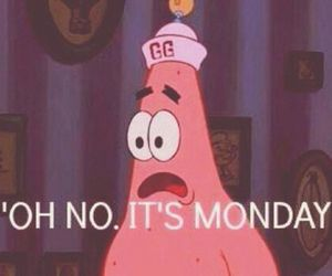 monday, patrick, and funny image