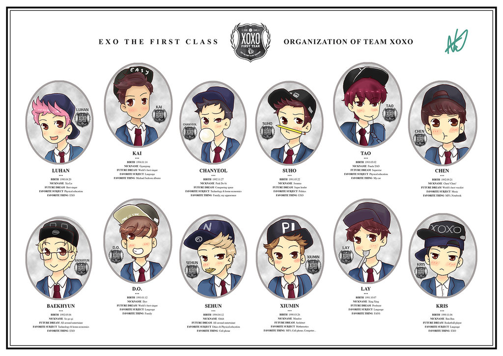 Image About Exo In E X O Fanarts By Khuniee ツ