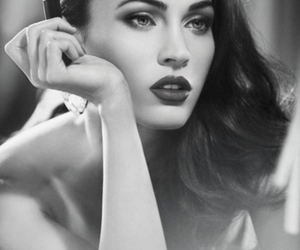 black and white, famous, and megan fox image