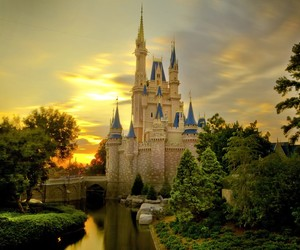 castle, disney, and princess image