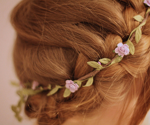 flowers, girly, and hair image