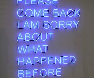 quotes, sorry, and neon image