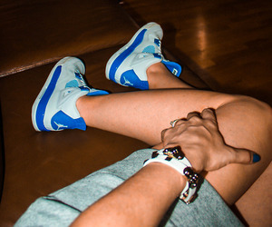 air, blue, and shoes image