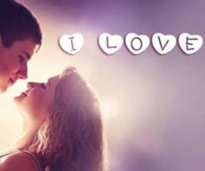 boy and girl, couple, and kiss image
