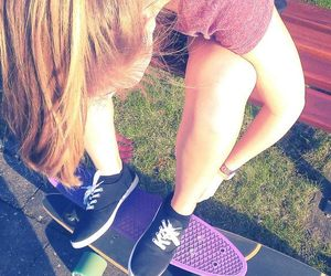 longboard, nike, and pennyboard image