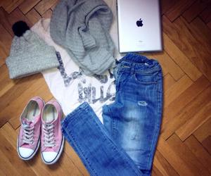 cap, converse, and fashion image