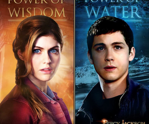 percy jackson, annabeth chase, and logan lerman image