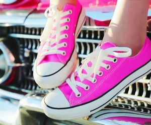 converse, pink, and bethany mota image