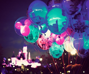 disney, balloons, and night image