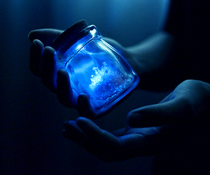 blue, magic, and light image