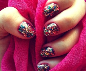 colours, pink, and nailart image