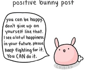 bunny, positive, and cute image