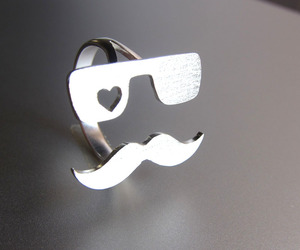 ring, heart, and mustache image