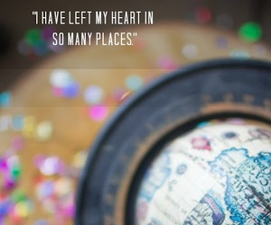 travel, quote, and globe image