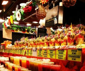 Barcelona, colourful, and food image