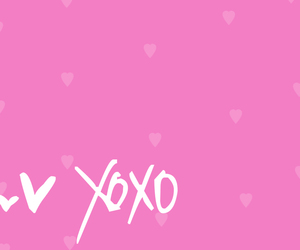 pink, xoxo, and love image