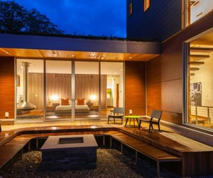 villa, gorgeous lamp design, and nice sustainable house image