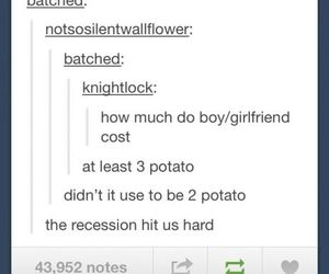potato, girlfriend, and tumblr image