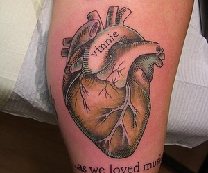 heart, heart tattoo, and ink image