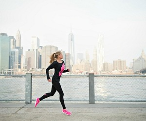 girl, fitness, and run image