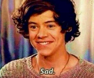 Harry Styles, sad, and one direction image