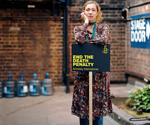 alex kingston, amnesty international, and protect the human image