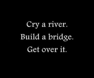 cry, quote, and bridge image