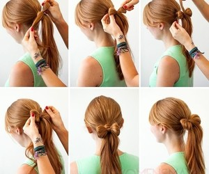 fashion, hair, and tutorial image