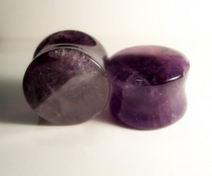 Plugs, amethyst, and amethyst plugs image