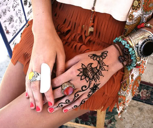 tattoo, henna, and rings image
