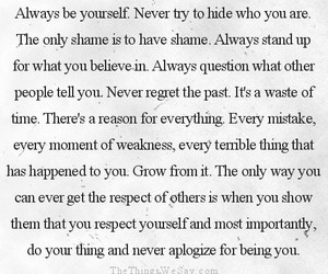be yourself, lesson, and quotes image