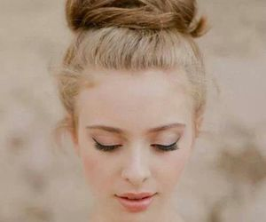 blonde, bun, and girl image