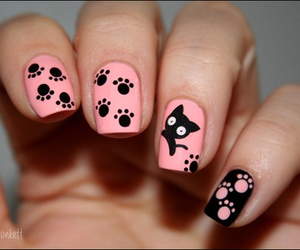 black, cats, and pink image