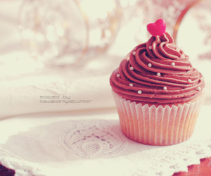 beautiful, chocolat, and cupcake image