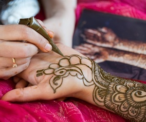 art, henna, and indian bride image