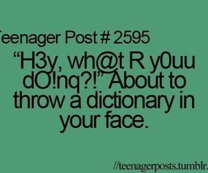funny, dictionary, and teenager post image