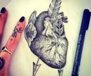 heart, tattoo, and drawing image