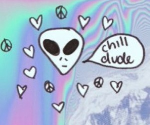 alien, soft grunge, and chill image