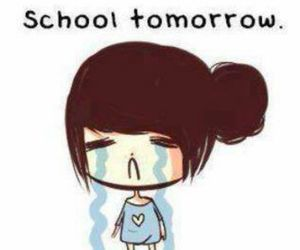 cry, school, and funny image