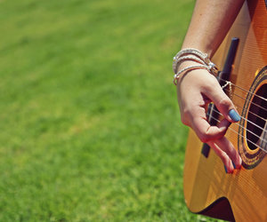 guitar, music, and summer image