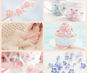 bottle, cup, and cupcake image