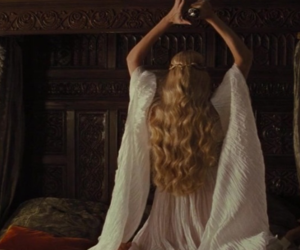 beautiful, crown, and long hair image