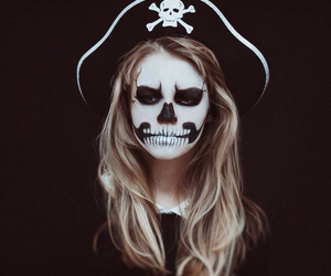 girl, pirate, and make up image