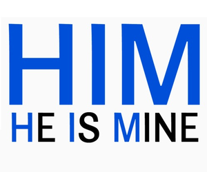 him, love, and mine image
