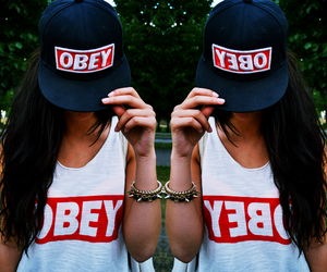 obey, girl, and fashion image