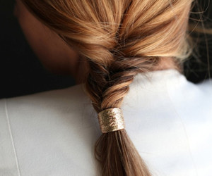 hair, braid, and gold image