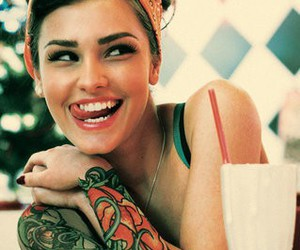 girl, tattoo, and Pin Up image