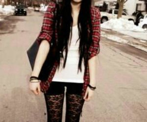 outfit, red, and punk image