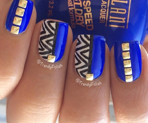 nails, blue, and studs image